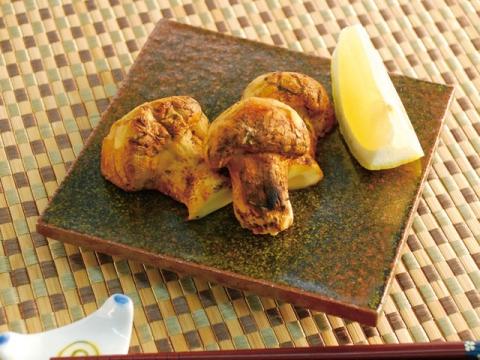 Sumibi-yaki Matsutake (charcoal-grilled matsutake) / 炭火焼き松茸
