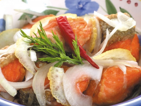 Sweet and Sour Salmon / サーモン南蛮漬け