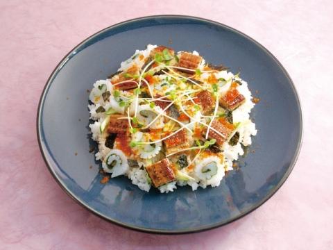 SQUID & EEL CHIRASHI SUSHI / イカとうなぎのちらし寿司