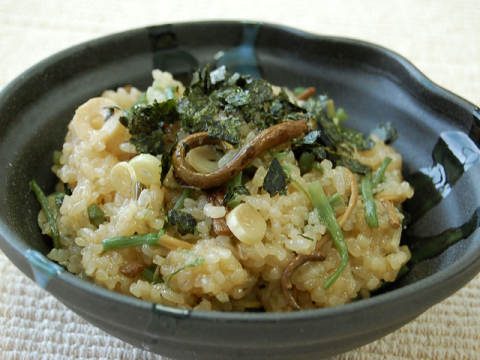 SANSAI OKOWA (Sweet Rice with Mountain Vegetables) / 山菜おこわ