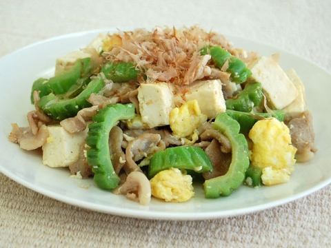 Stir Fried Goya (Bitter Melon)ゴーヤチャンプル