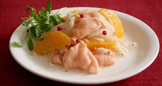 Salmon and Orange Marinade<br>サーモンとオレンジのマリネ