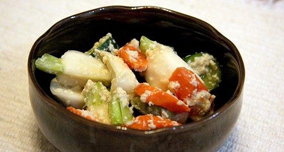 Mirin Kasu pickled vegetables / 野菜のみりん粕浅漬け